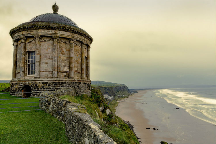 Mussenden Temple stormlands