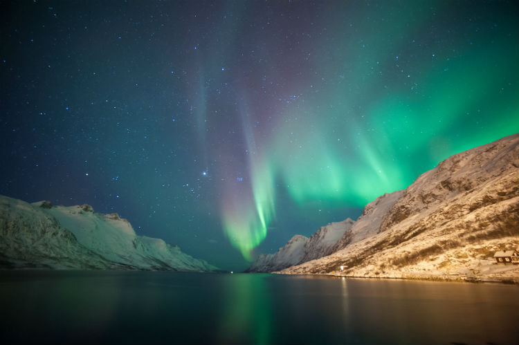 Northern lights Ersfjordbotn Tromso Norway