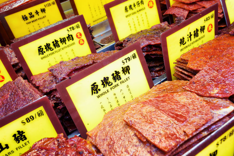 Pork delicacies in traditional Chinese-style