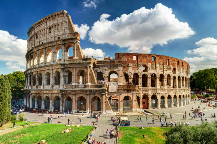 Colosseum in Rome: an example of Ancient Roman Architecture