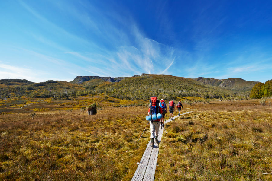 Hikers on Overland Trail in Tasmania Australia.jpg
