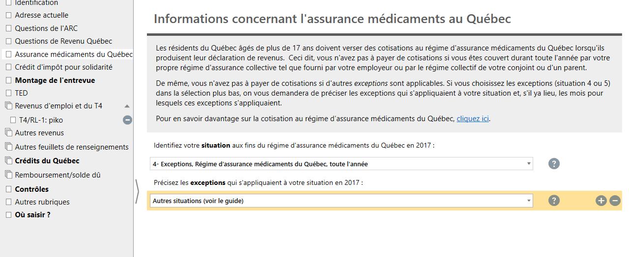 Le régime public d'assurance médicaments