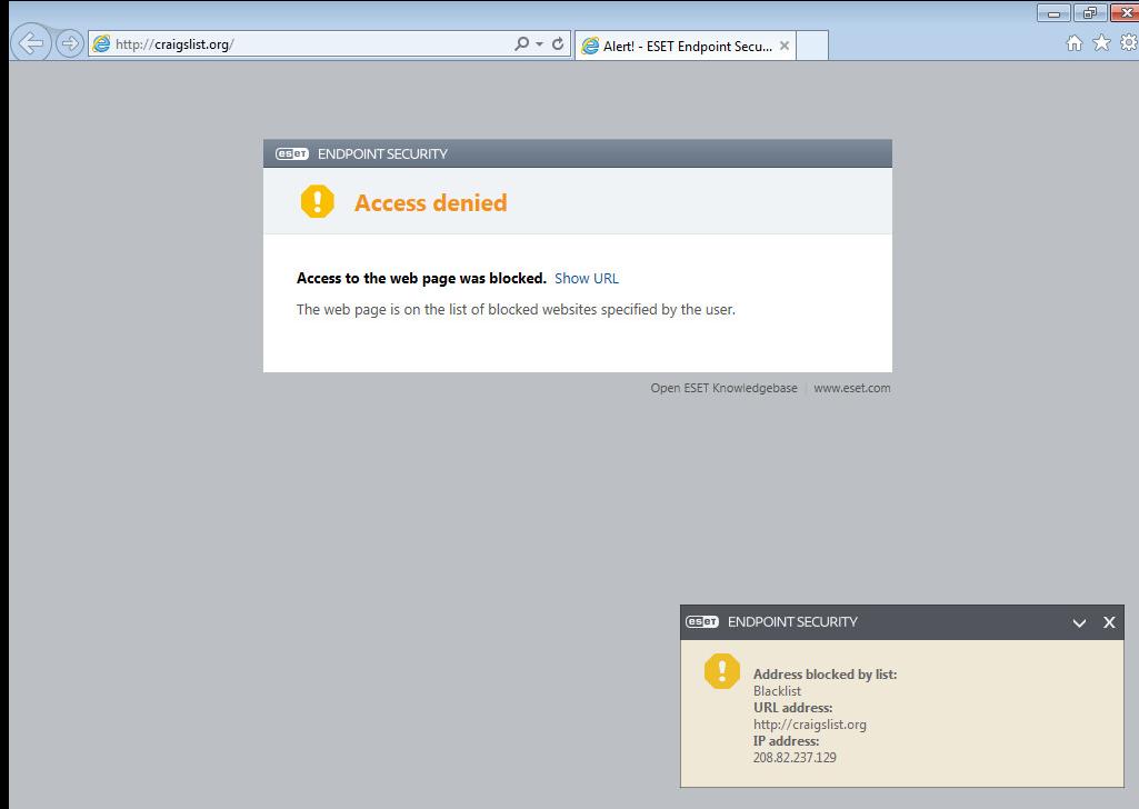 Blocked Webpage Message - Remote Management - ESET Security Forum
