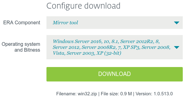 MirrorTool doesn't support Windows Server 2003 - Remote Management