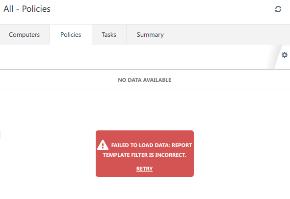 report template filter is incorrect remote management eset