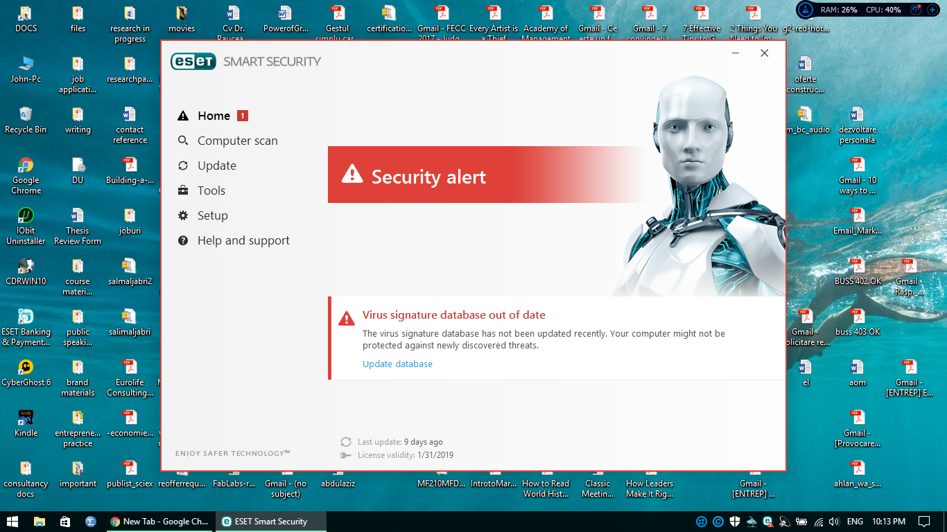Eset smart security.