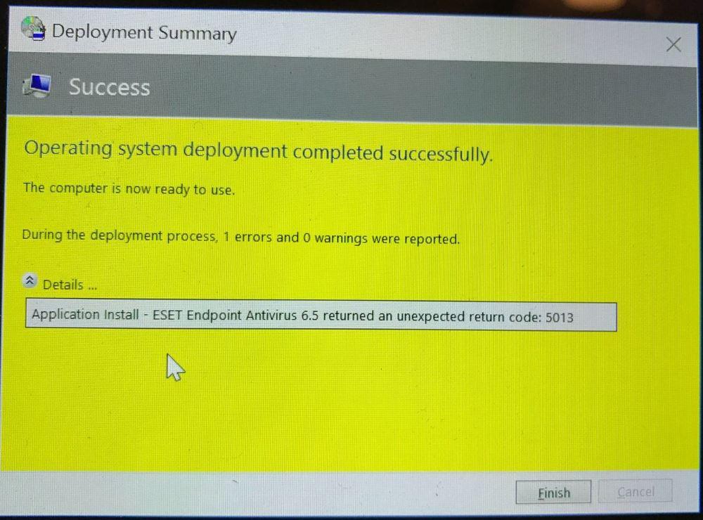 Unexpected return code: 5013 - Remote Management - ESET