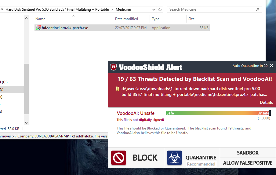 HackTool Pather potentially unsafe application - Malware