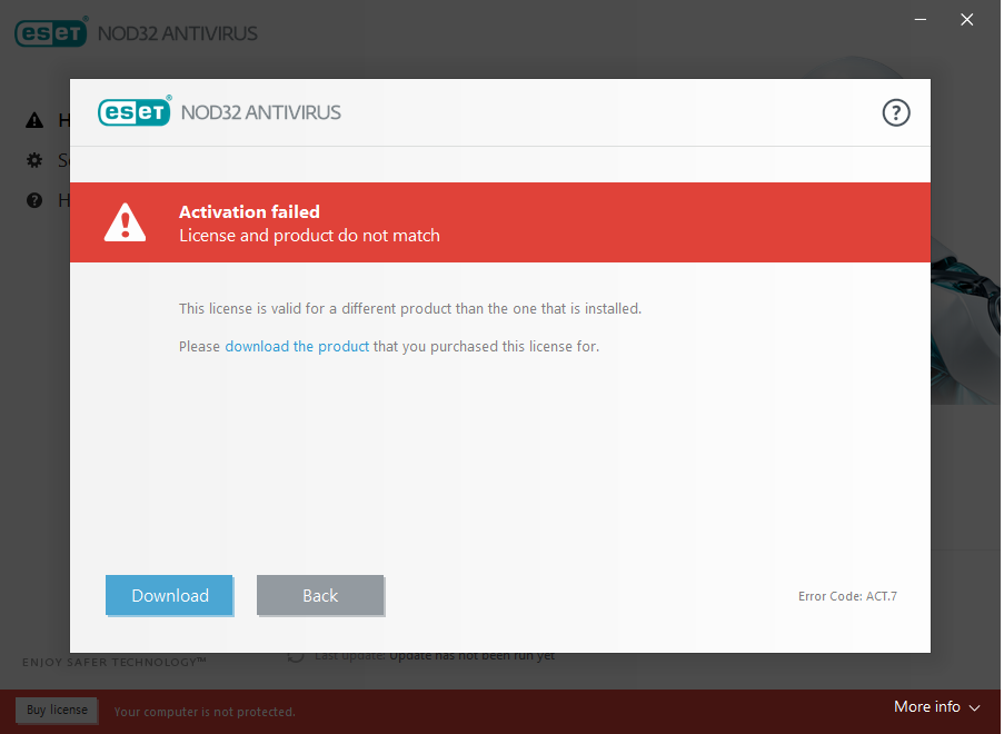 Cant activate product no response from support eset nod32 share this post ccuart Gallery