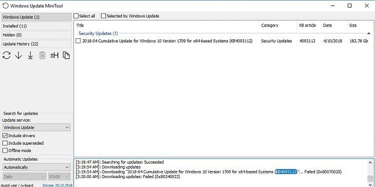 Windows Updates not installing using ESET - ESET Internet Security