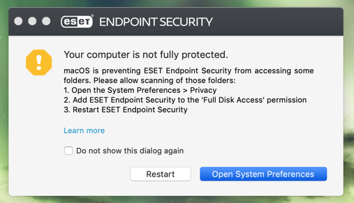 ESET 6 7 500 0 and 10 14 Mojave TCC issue) - ESET Endpoint