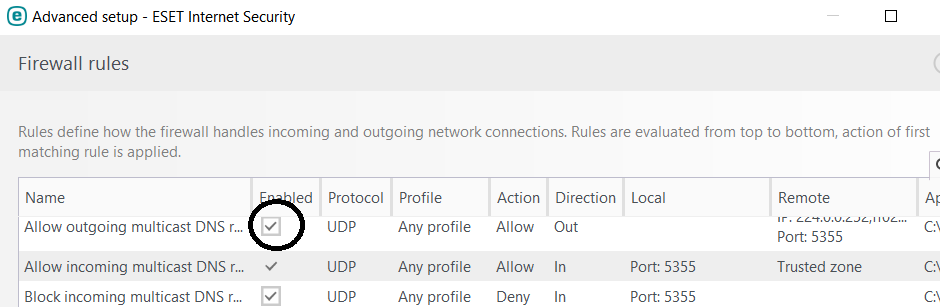 Firewall is not working partly  Is it a bug or a hack? - ESET