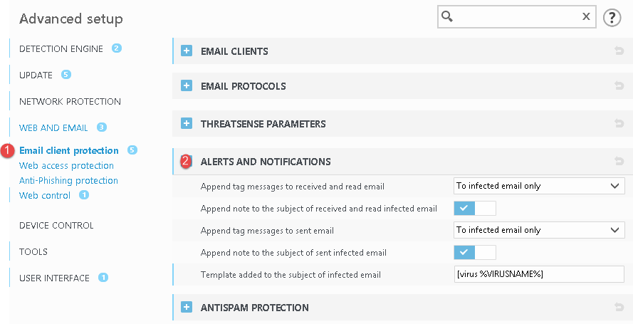 can eset add a attachment warning in incoming emails? - ESET