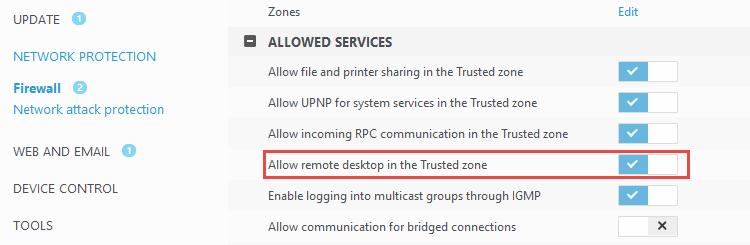 ESET popup blocks all network connections - ESET Internet