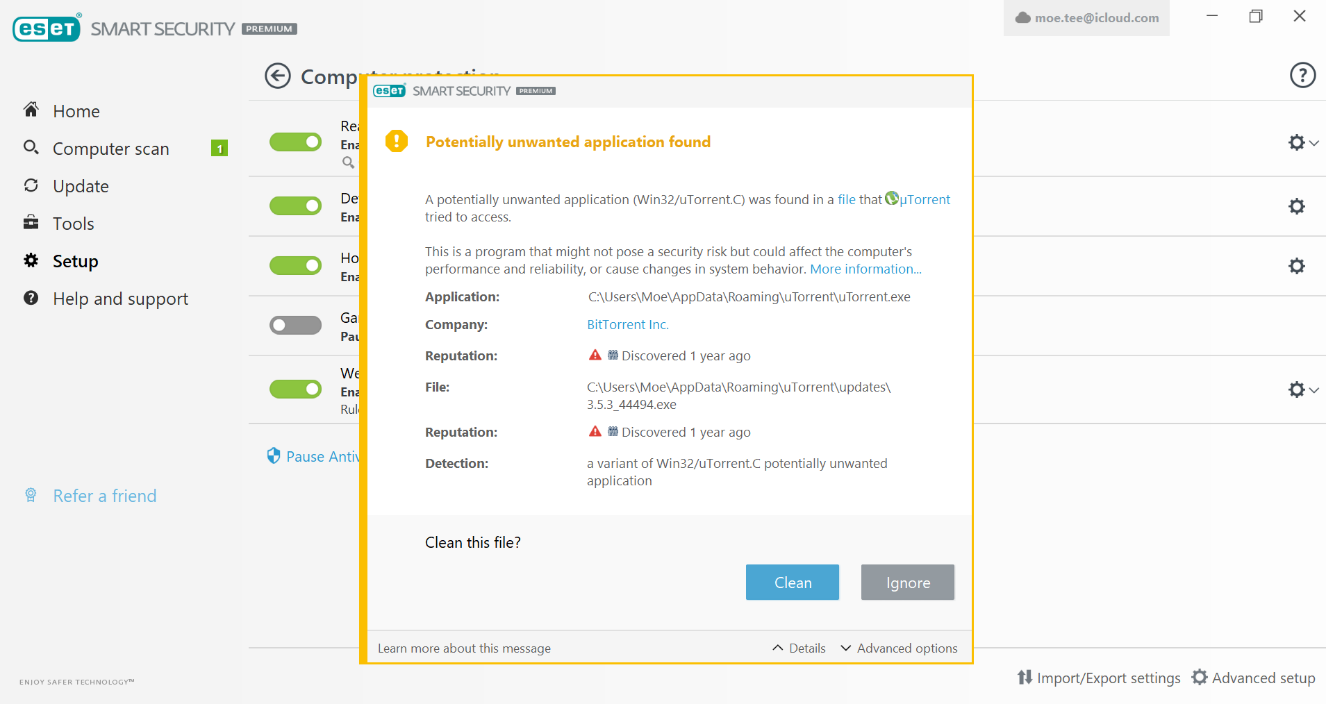 Is This A False Or Real Alarm From Eset Malware Finding And Cleaning Eset Security Forum