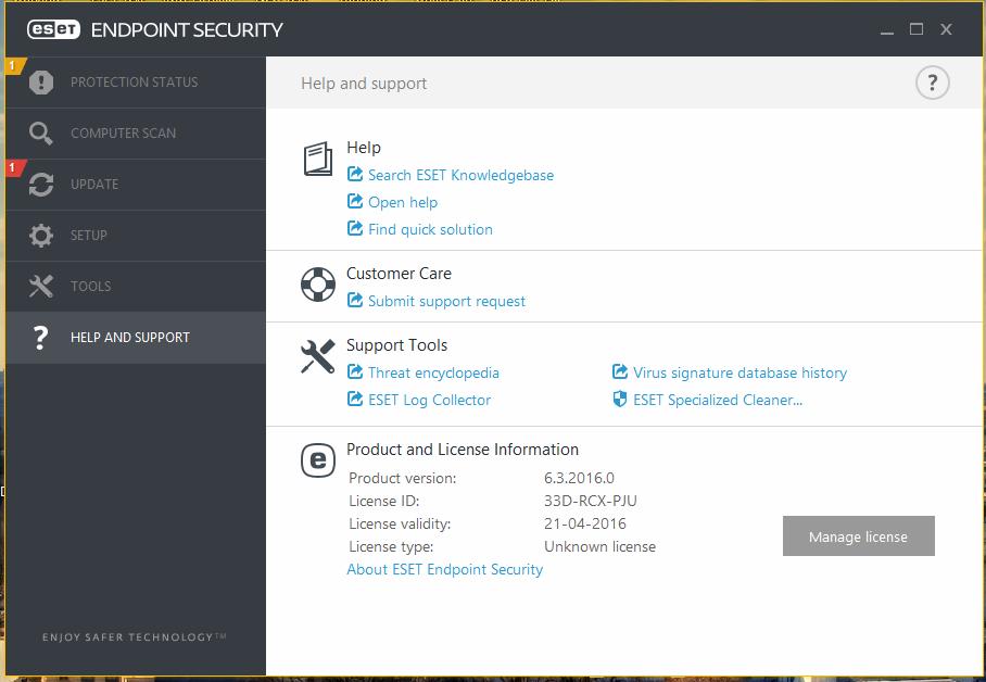 Mismatch license status - Remote Management - ESET Security Forum