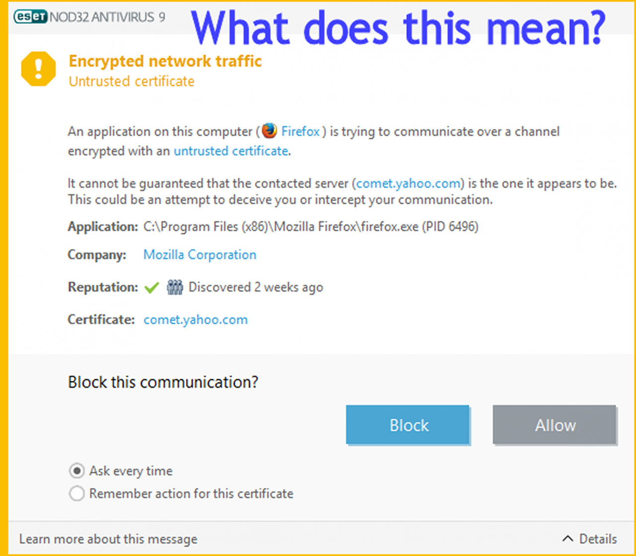Help Untrusted Certificate Quot Encrypted Network Traffic