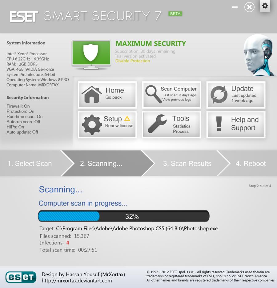 Eset internet security 12. 0. 31. 0 – 25% off | softexia. Com.