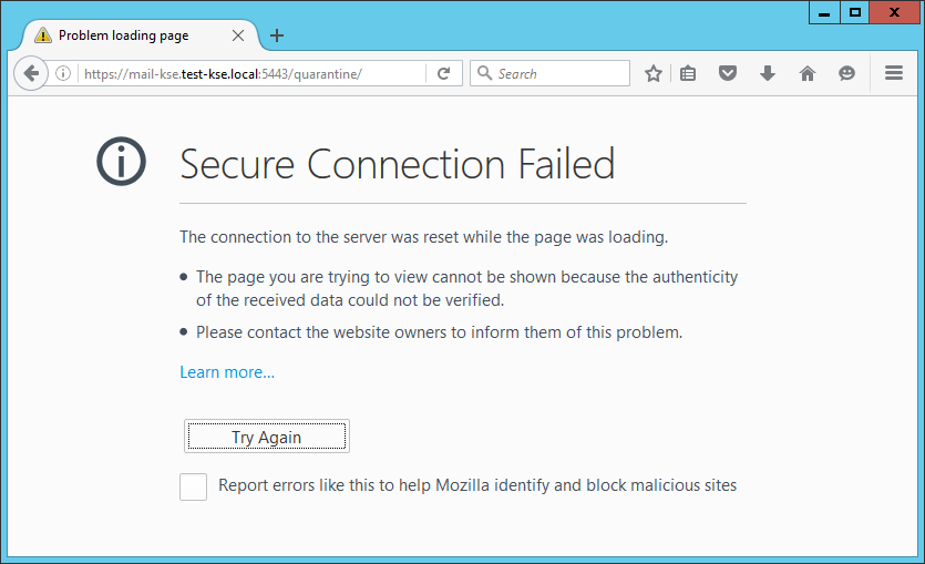 Trouble with custom port in Mail Security Web Qarantine - ESET