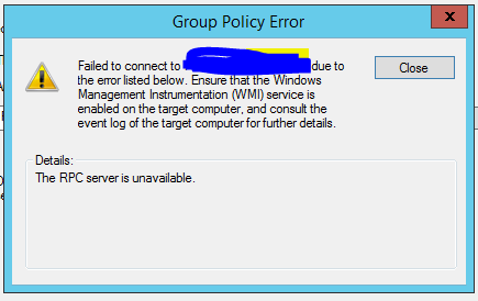 Allow Windows Server 2012 GPO Policy Results on ESET RA6 - ESET