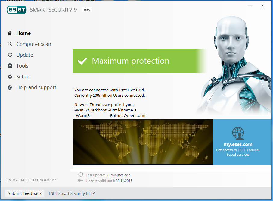 license key nod32 antivirus 9