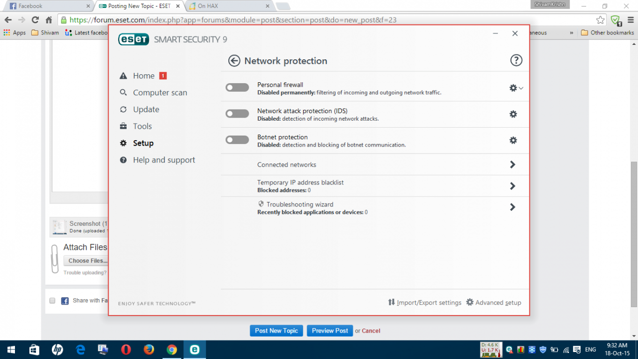 How to disable NOD32 19