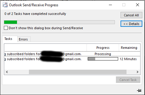 Can't Sync Gmail via IMAP in Outlook 2016 with 9 0 349 - ESET