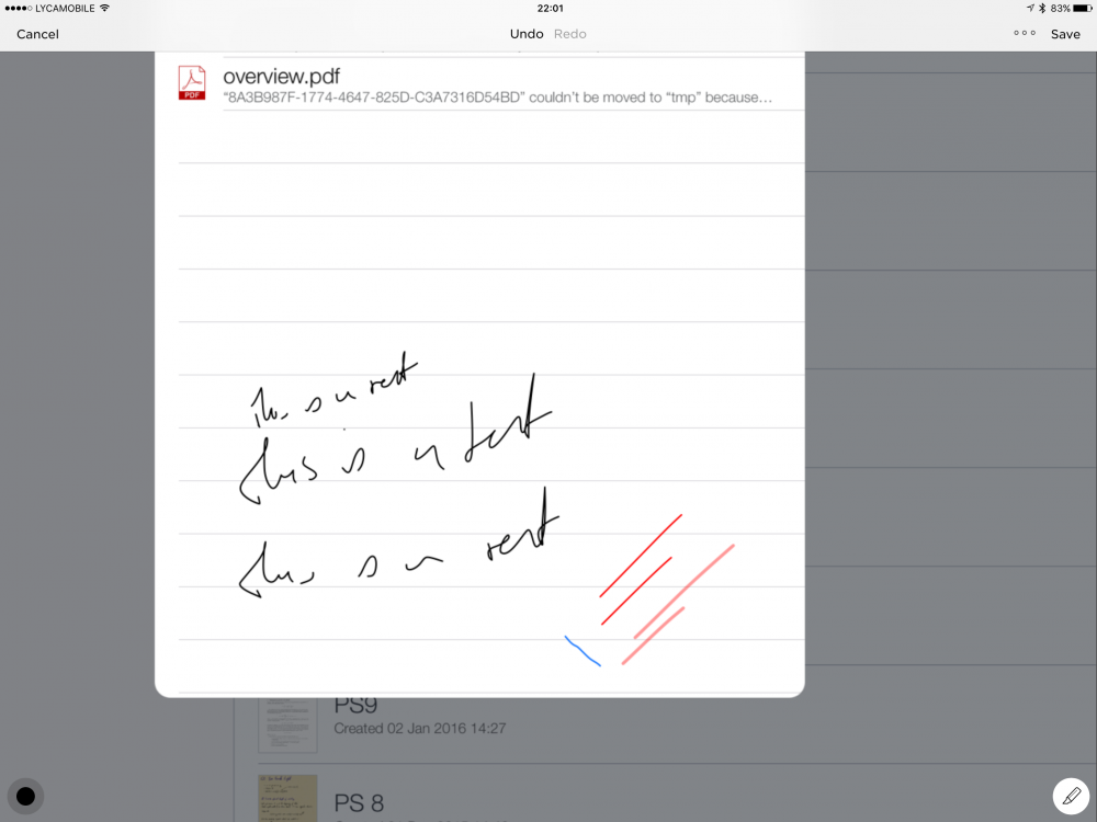 how to use apple pencil with evernote