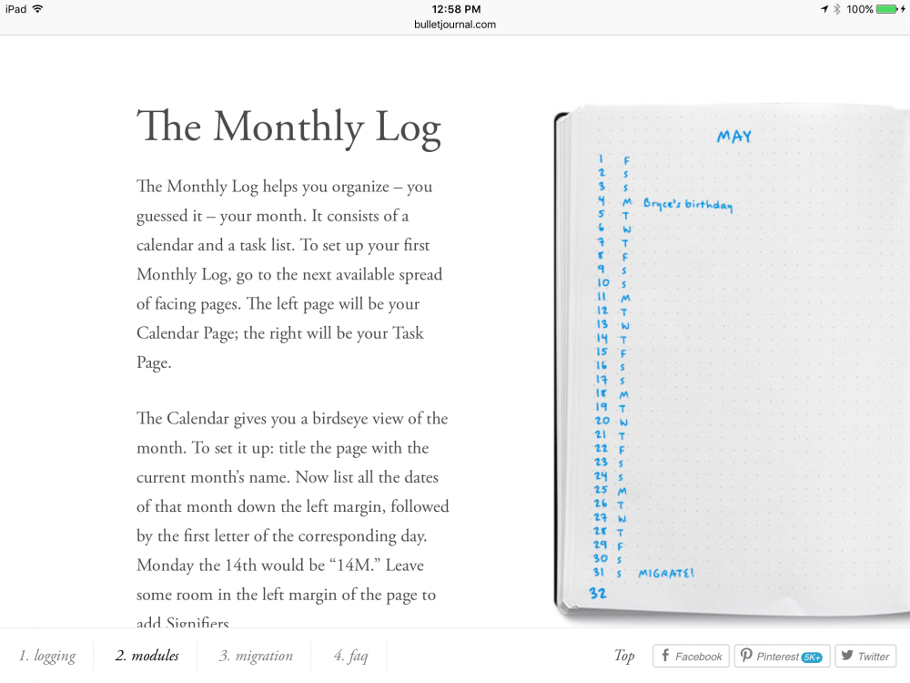 Bullet Journal In Evernote Electronic Organization Evernote