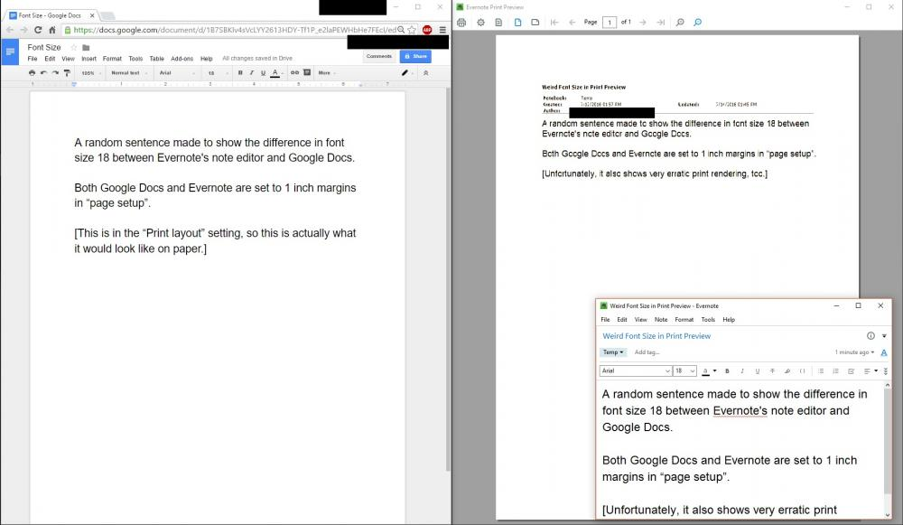Print Font Suddenly Very Small Evernote For Windows Evernote