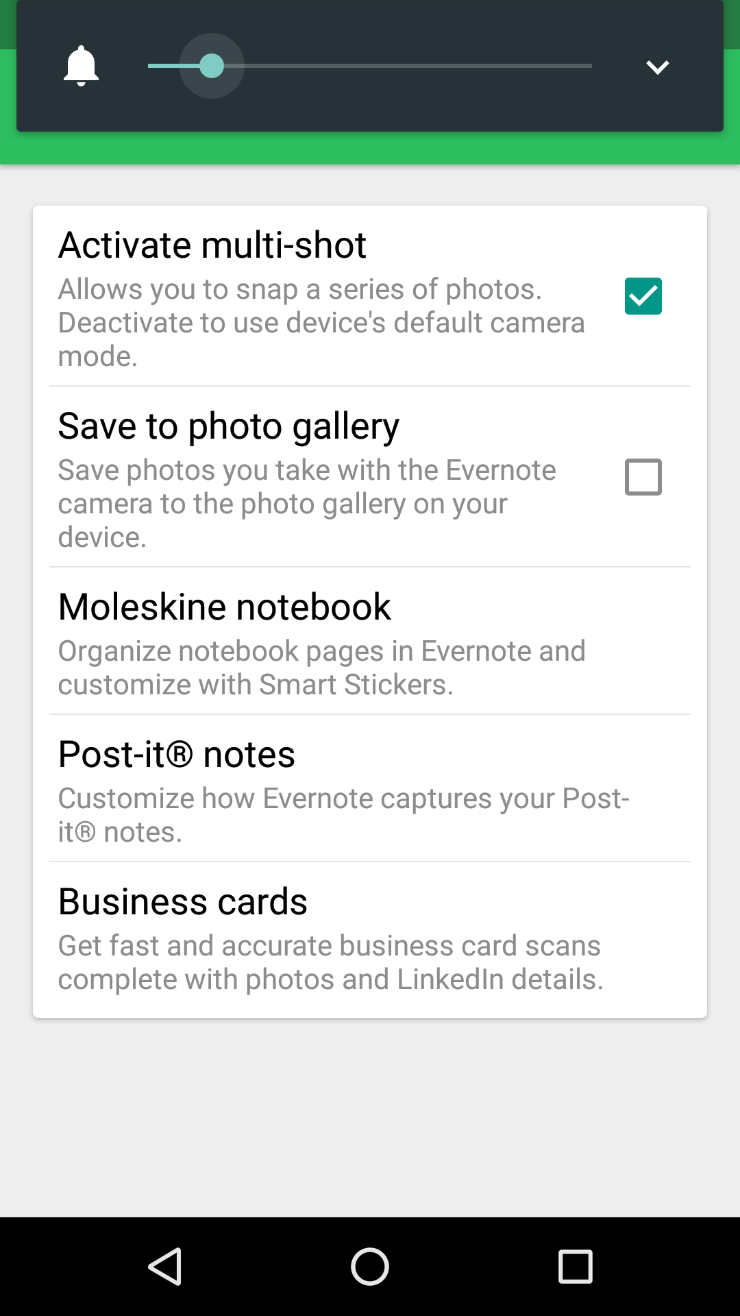 Scanning to email and to save - Evernote for Android - Evernote User ...