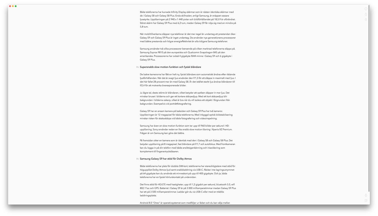 Make Evernote work on big screens - Evernote for Mac