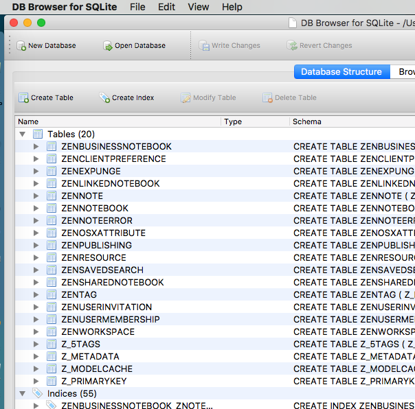 SQLite use by Evernote - Productivity - Evernote User Forum
