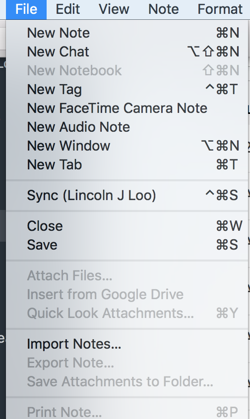 Unable to create a new notebook - Evernote for Mac