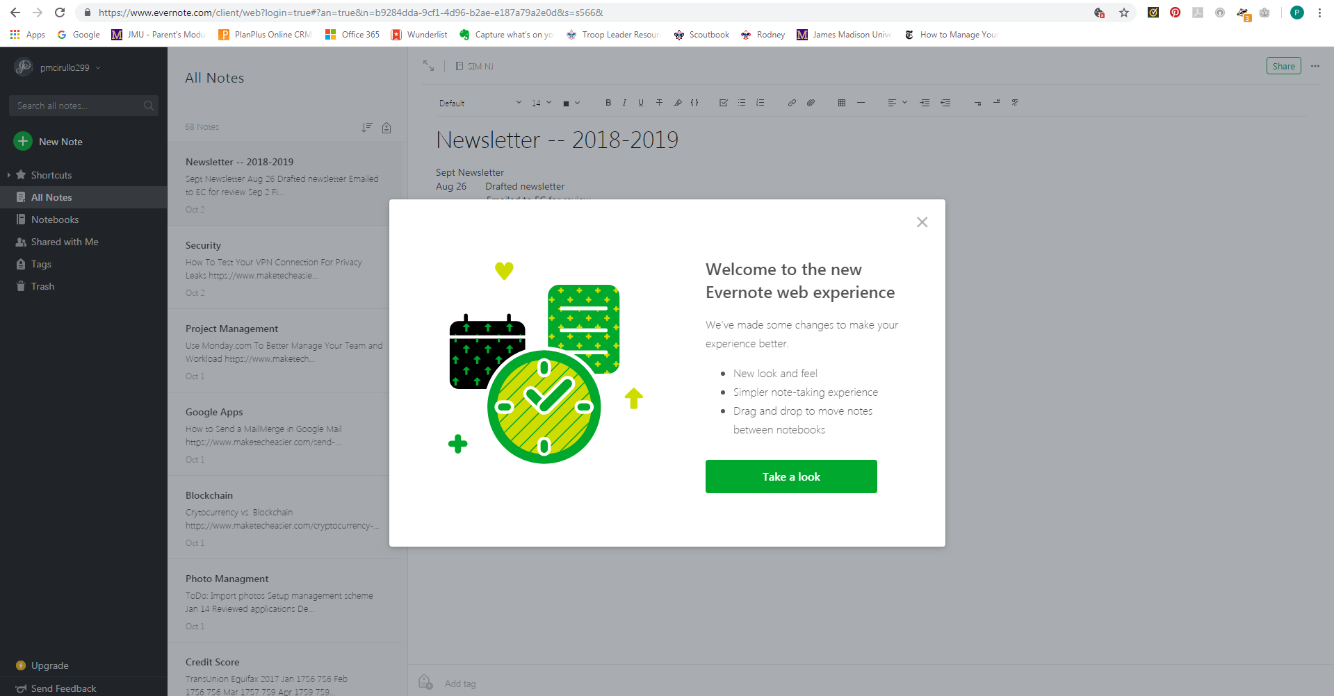 Issue with New Look box on Login - Web Client - Evernote