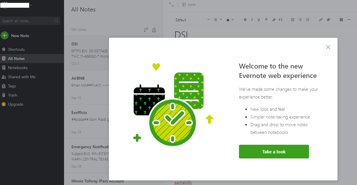 New Web Experience Beta now Available - Evernote Web Client