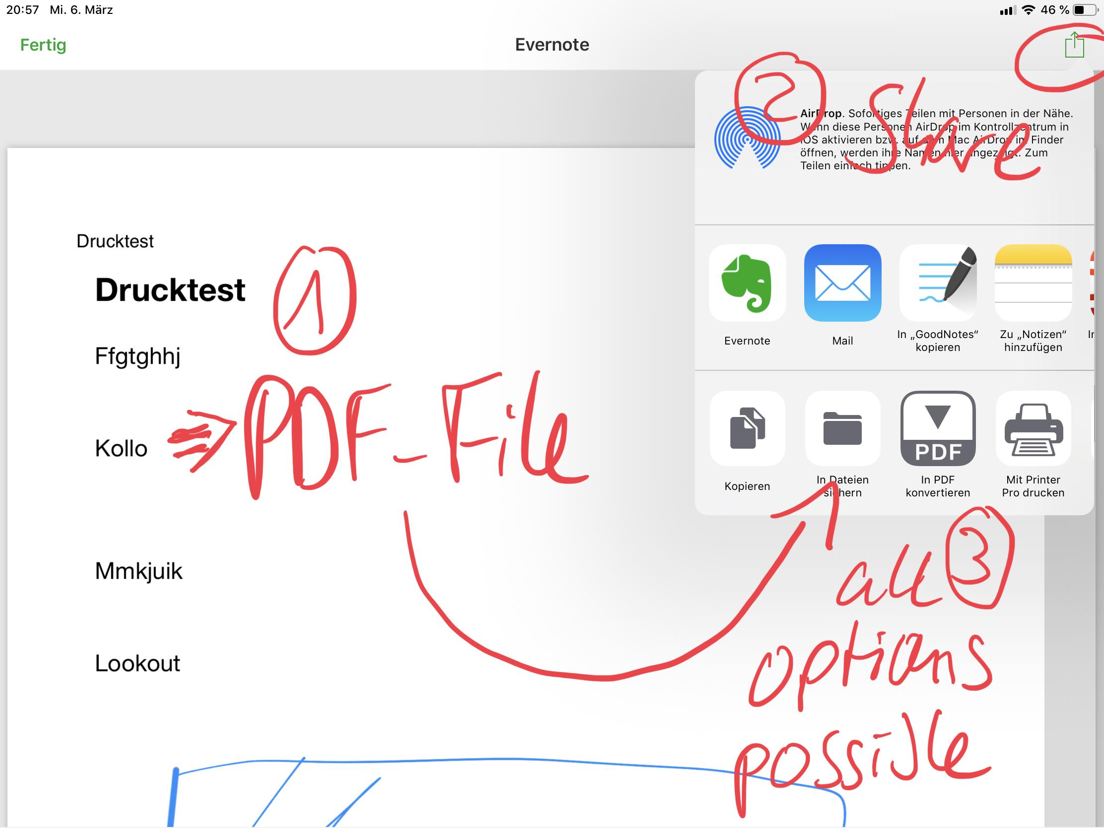Solved] Export an Evernote note as a PDF file - General