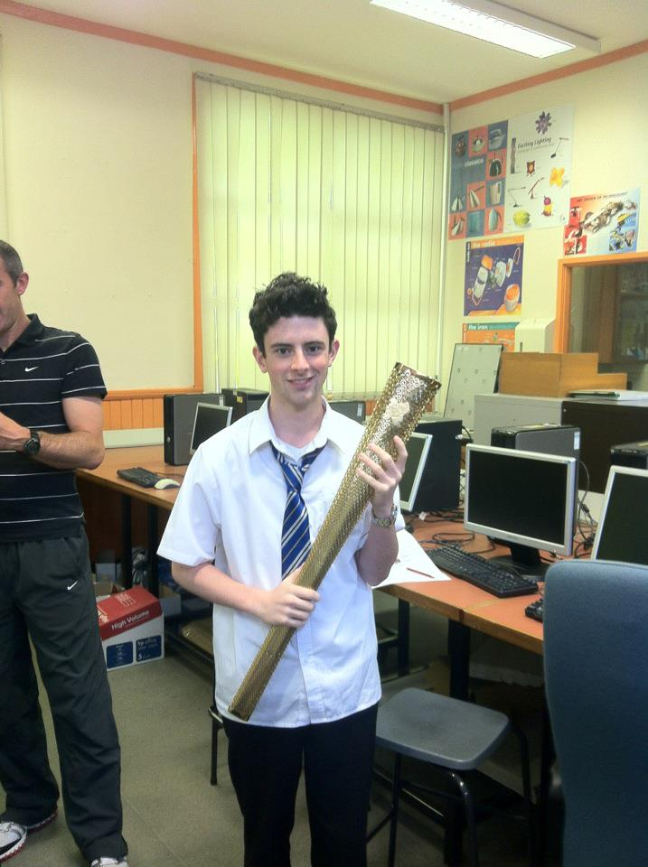 Me with the Olympic torch