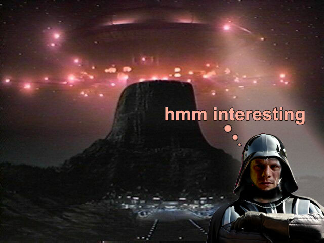 Darth Mullen's close encounter