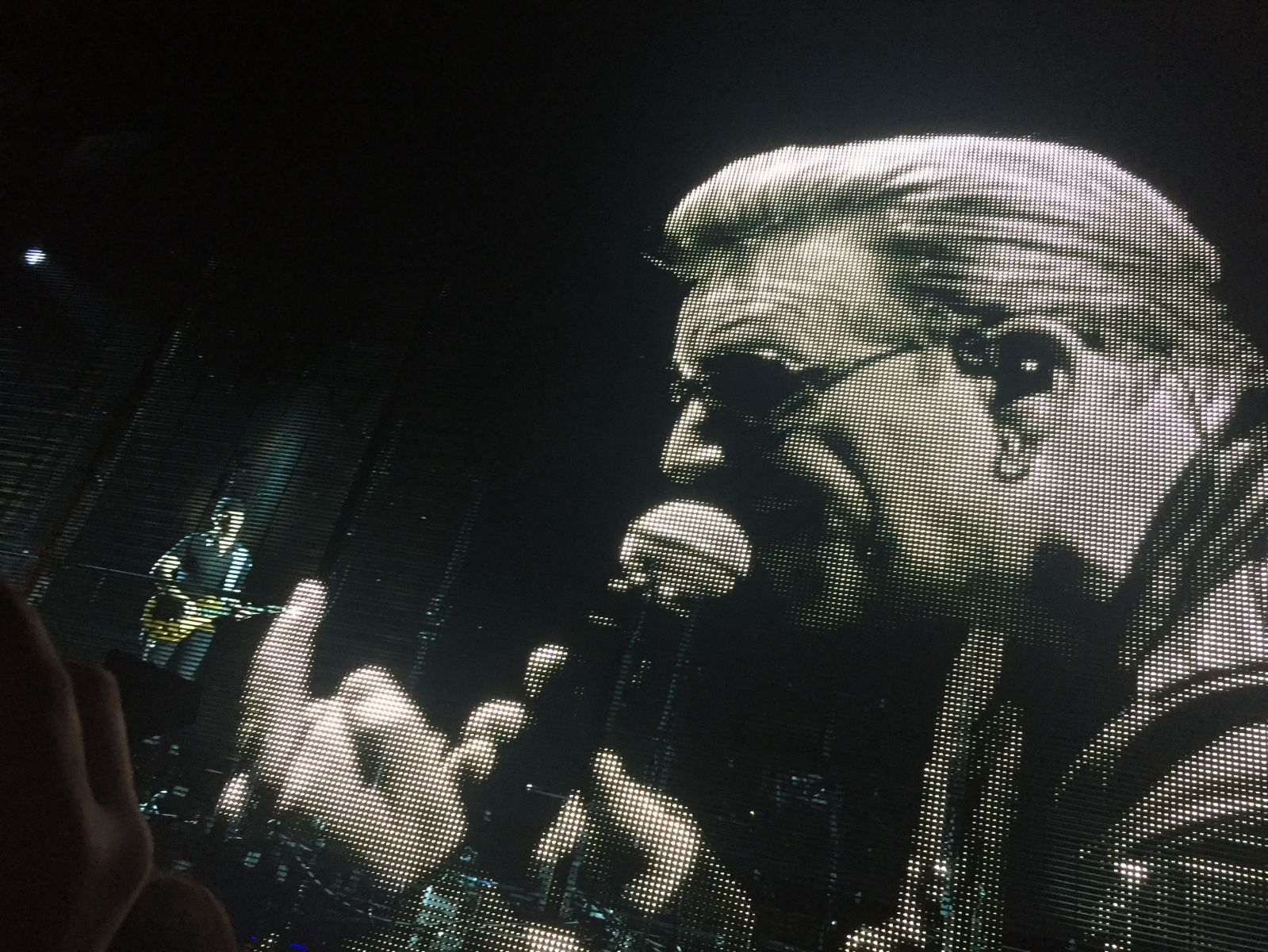 Bono Big Screen Swearing!