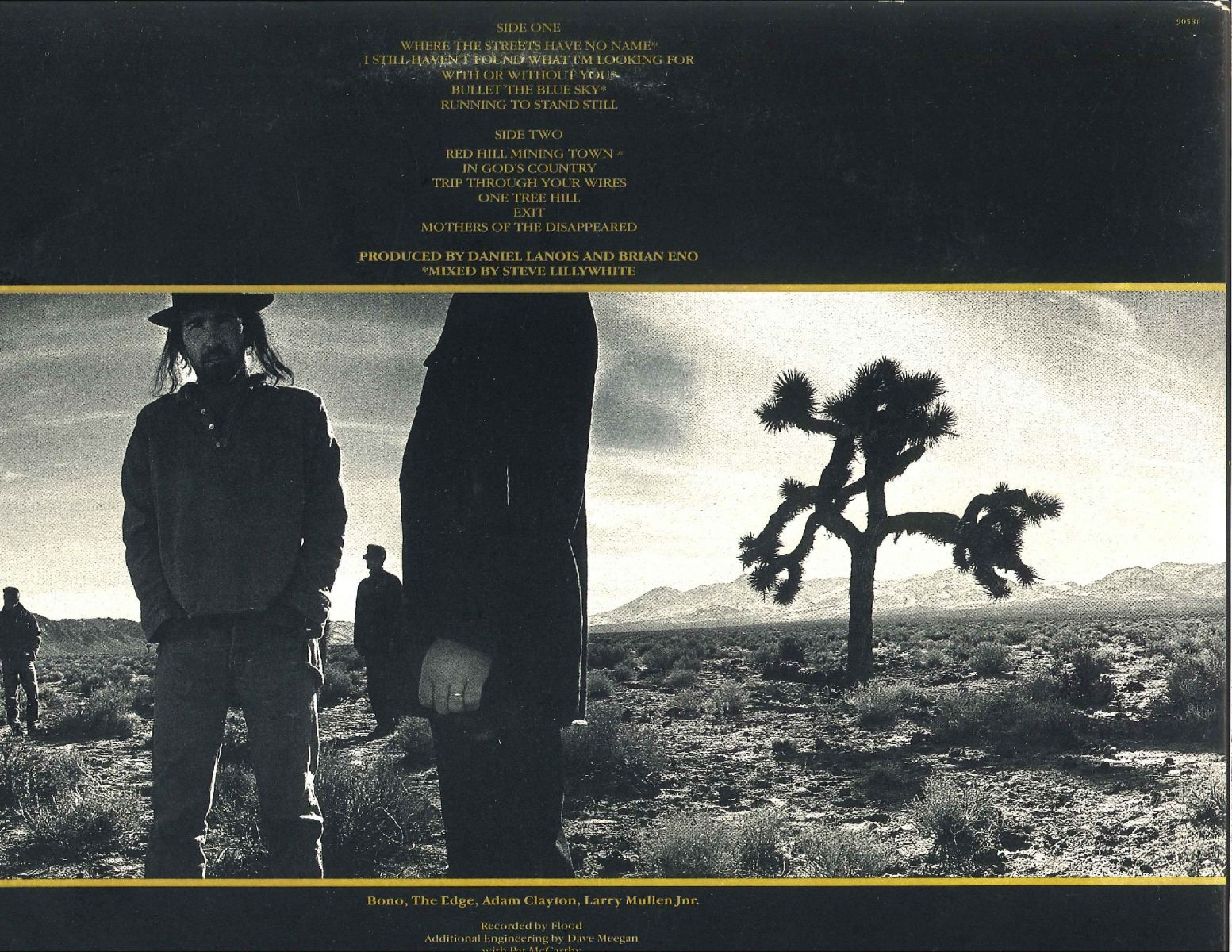 Joshua Tree (back of the album)