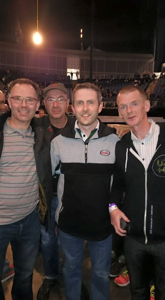 Four u2.com members having a ball at the 02 arena in London.