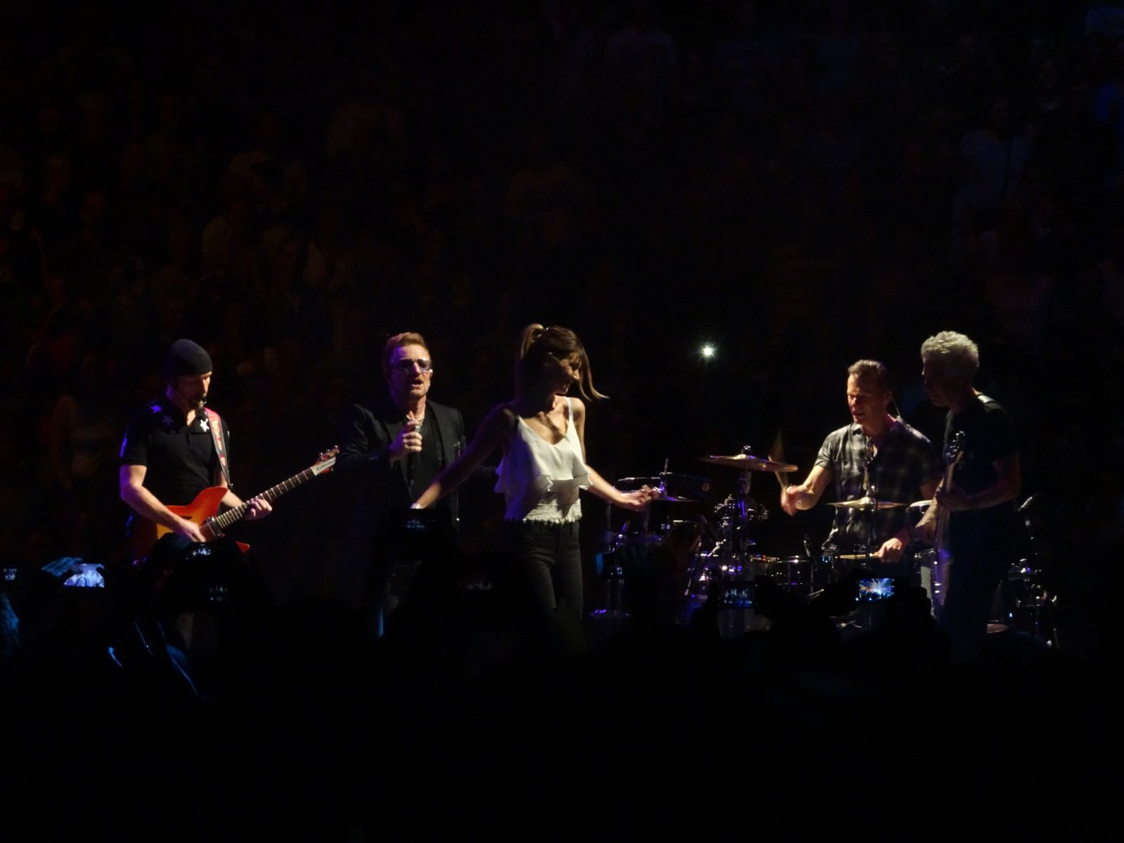 On stage with U2 in Berlin :)