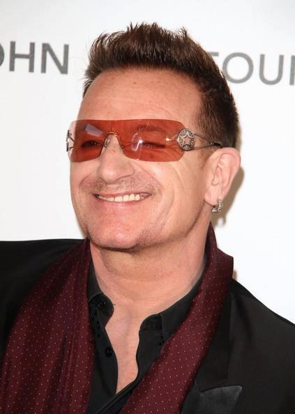 Bono at Elton John and Vanity Fair Oscars party