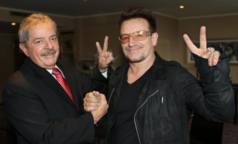 Bono and Lula in London