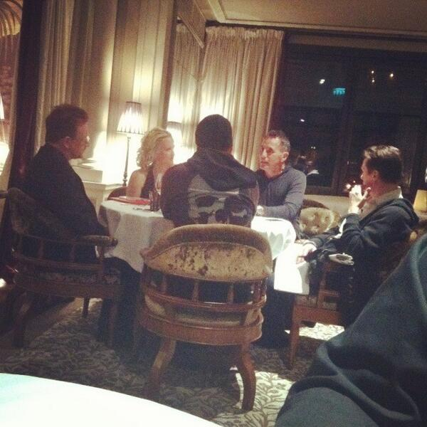 U2 Larry Mullen Jr and Bono in Monaco