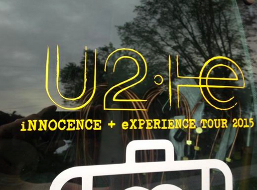 U2 iNNOCENCE + eXPERIENCE TOUR decal on my work van