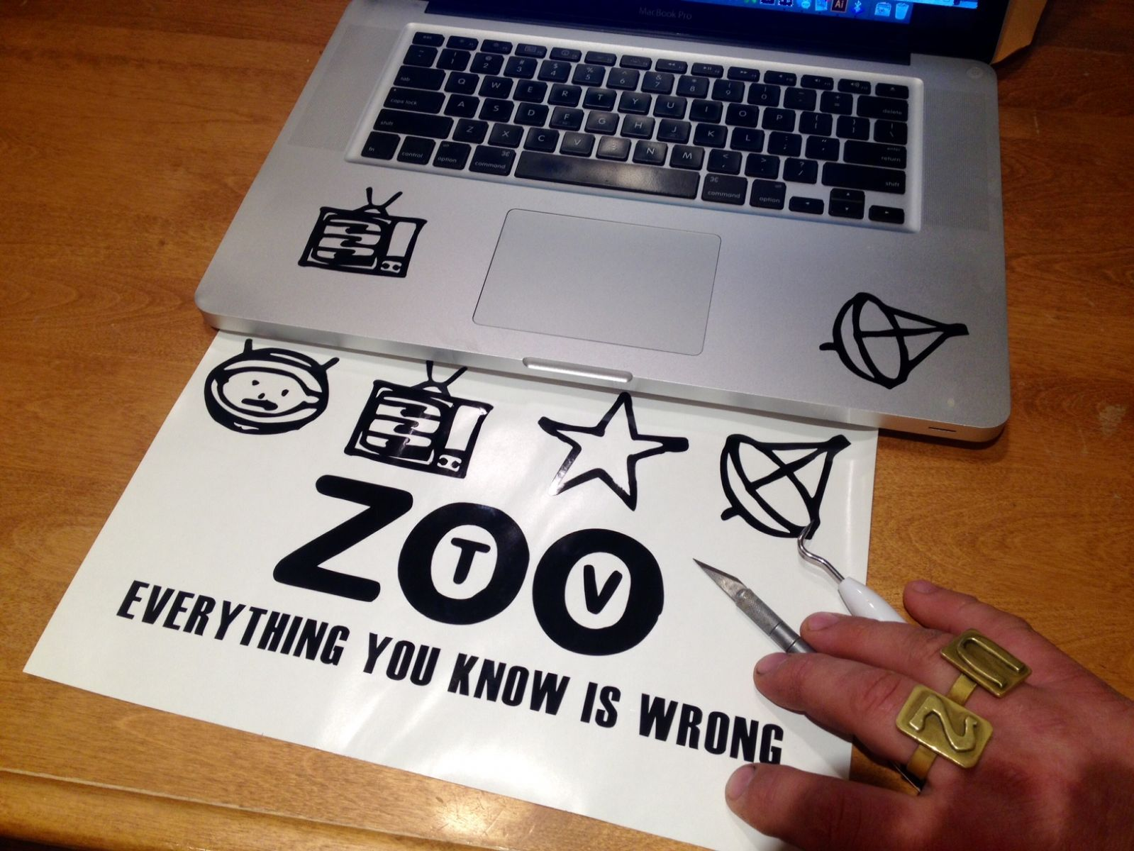 ZOO TV decal
