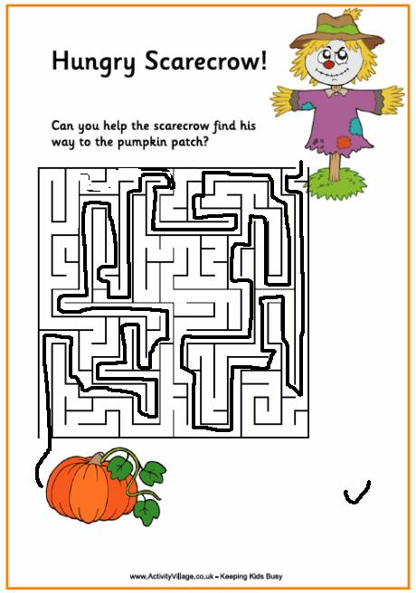 Hungry scarecrow maze solved