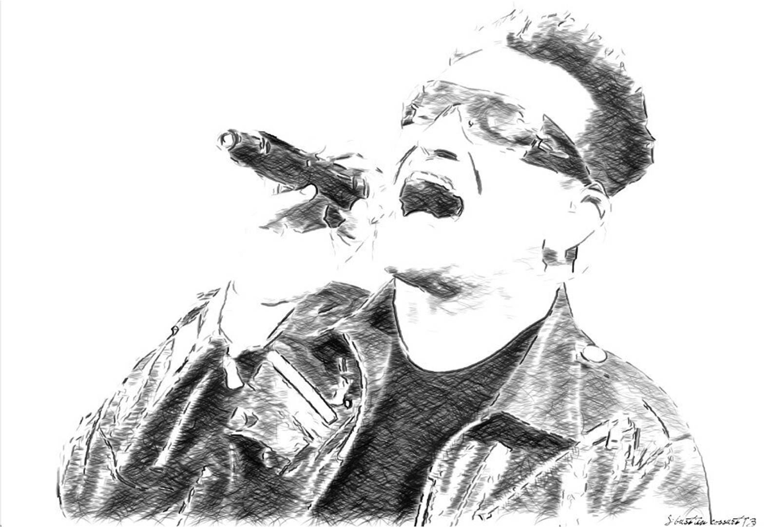 Bono drawing art